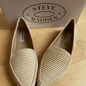 HOST PICK*Madden NEW Feather loafer flat raffia
